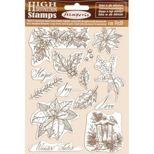WTKCC170 HD Natural Rubber Stamp 14x18 Poinsettia