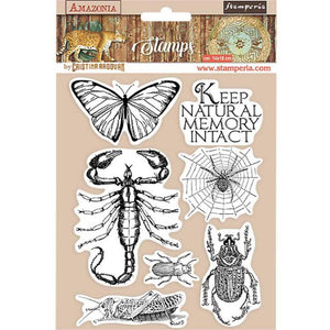 WTKCC193 HD Natural Rubber Stamp 14x18 Amazonia Butterfly