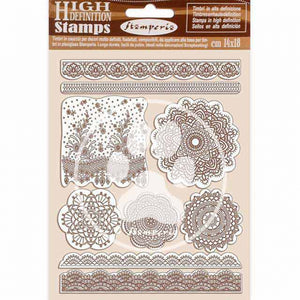 WTKCC196 HD Natural Rubber Stamp 14x18 Passion Lace