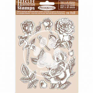 WTKCC198 HD Natural Rubber Stamp 14x18 Passion Rose
