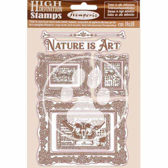 WTKCC200 HD Natural Rubber Stamp 14x18 Atelier des Arts Nature Is Art Frames
