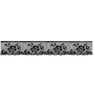 WTKCC27 HD Natural Rubber Stamp 4x18 Lace with Rose