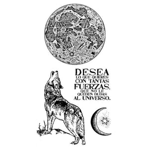 WTKCCR01 HD Natural Rubber Stamp 10x16.5 Cosmos Wolf