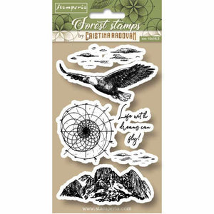 WTKCCR07 HD Natural Rubber Stamp 10x16.5 Forest Eagle