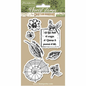 WTKCCR08 HD Natural Rubber Stamp 10x16.5 Forest Botanical