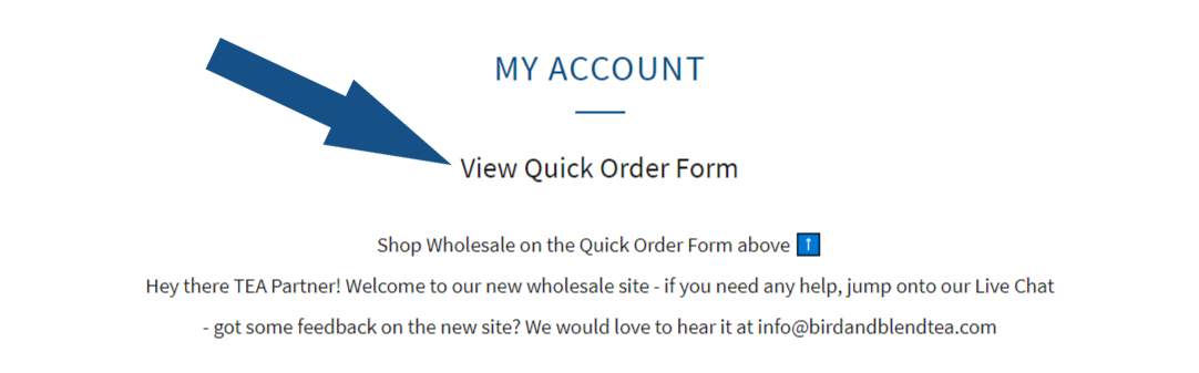 wholesale page information