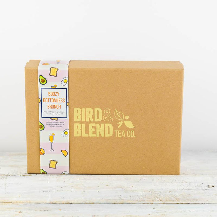 Boozy brunch tea gift box