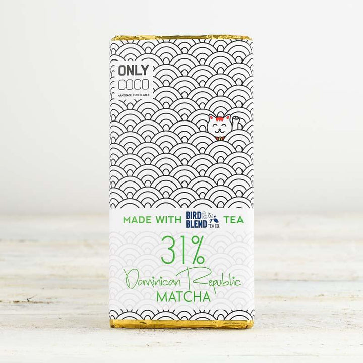Peaches & Cream Matcha White Chocolate Bar