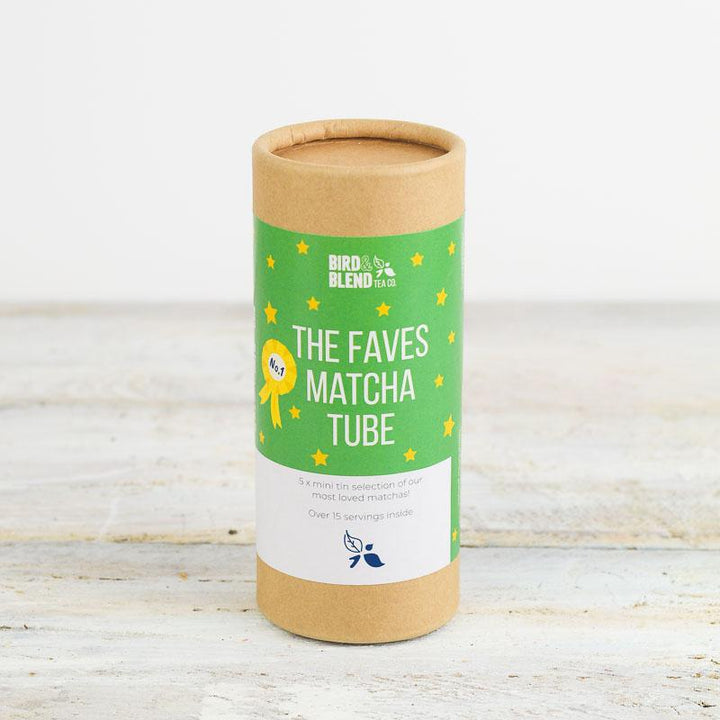 The faves matcha green tea powder sampler tube