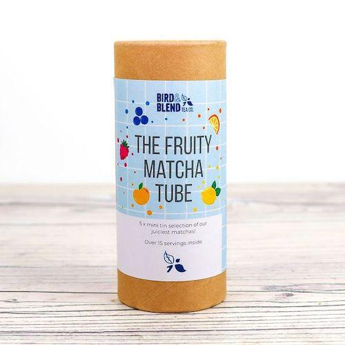 The fruity matcha green tea powder sampler tube