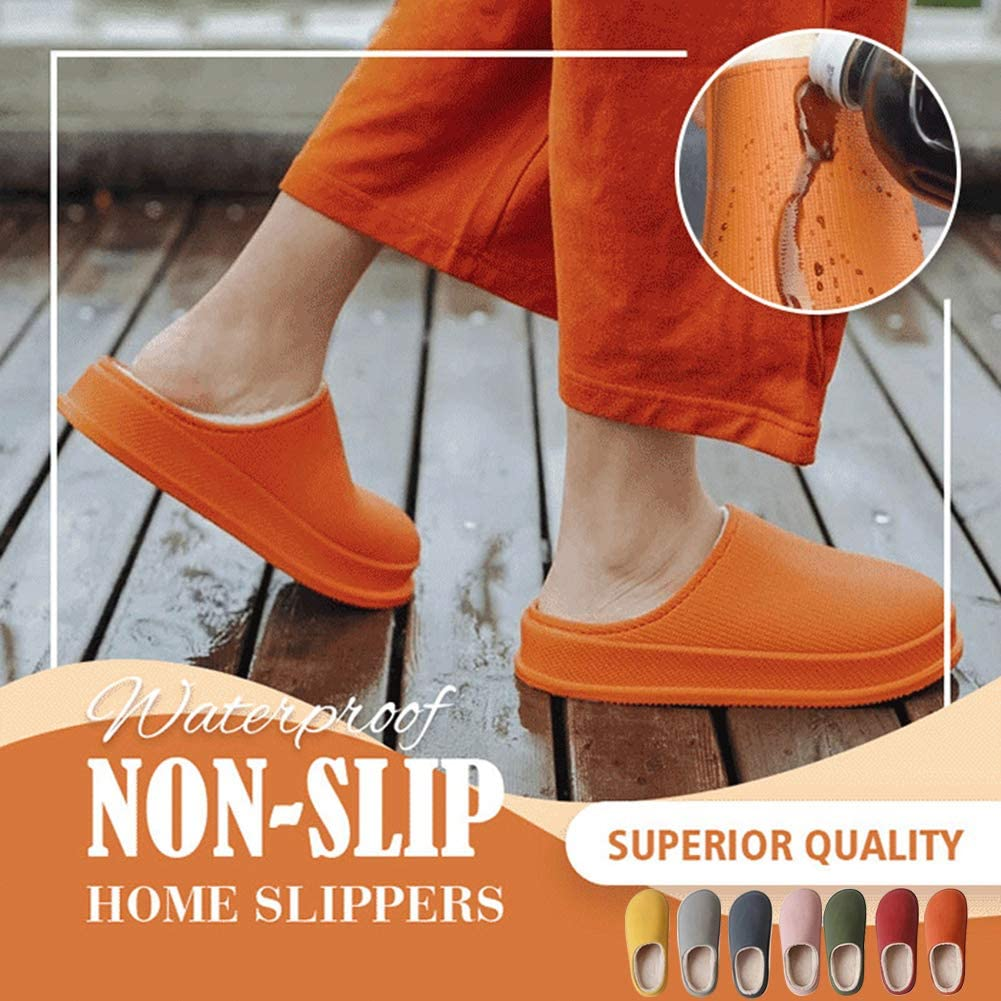 Waterproof Non-Slip Winter Slippers