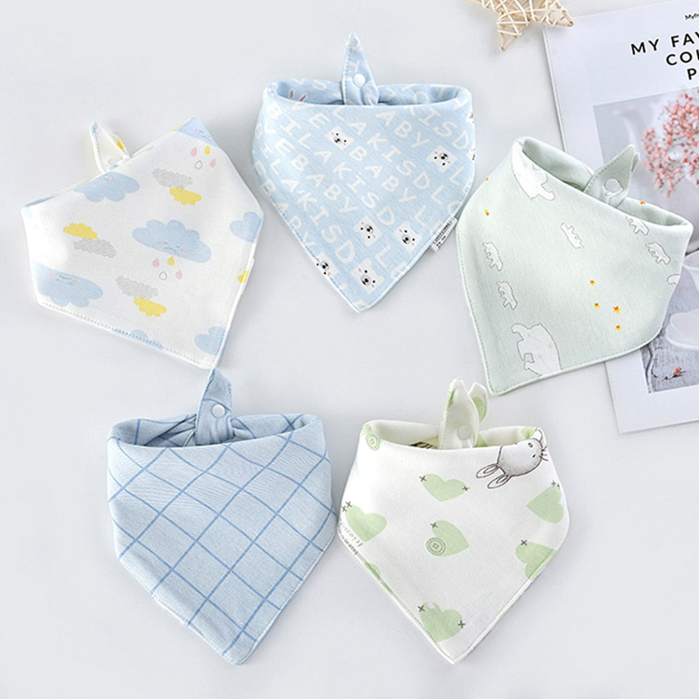 Beautiful Baby Bibs (5pcs)
