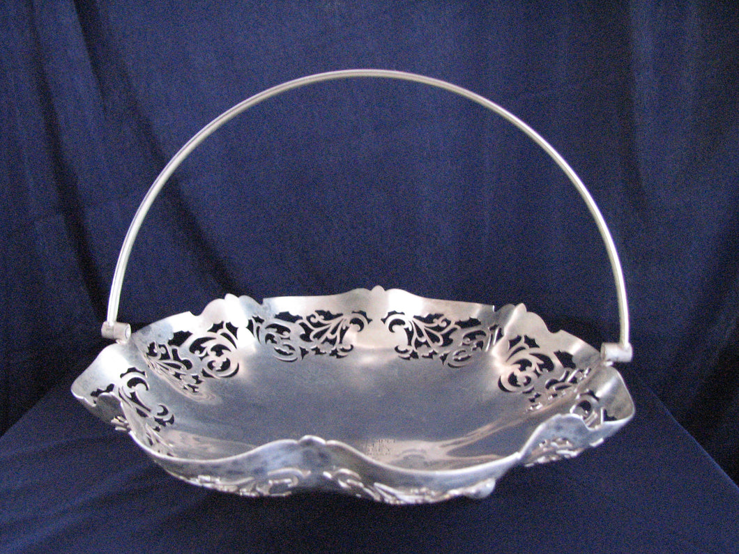 Antique - Silverplate - Pastry Dish              2/2CAB