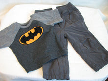 Load image into Gallery viewer, Toddler - Boy's Batman T-shirt & pants - Size 12 months  2/3A
