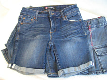 Load image into Gallery viewer, Girl's Bundle - Blue denim skirt & shorts - Size 7   2/3A