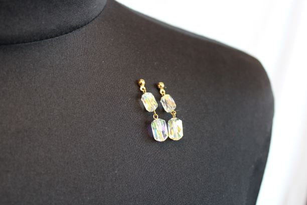 Swarovski Crystal Earrings                                                                                 4/28Cab