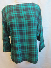 Load image into Gallery viewer, Women's Silk Long Sleeve Blouse - Black/Green - Size 12   2/24A