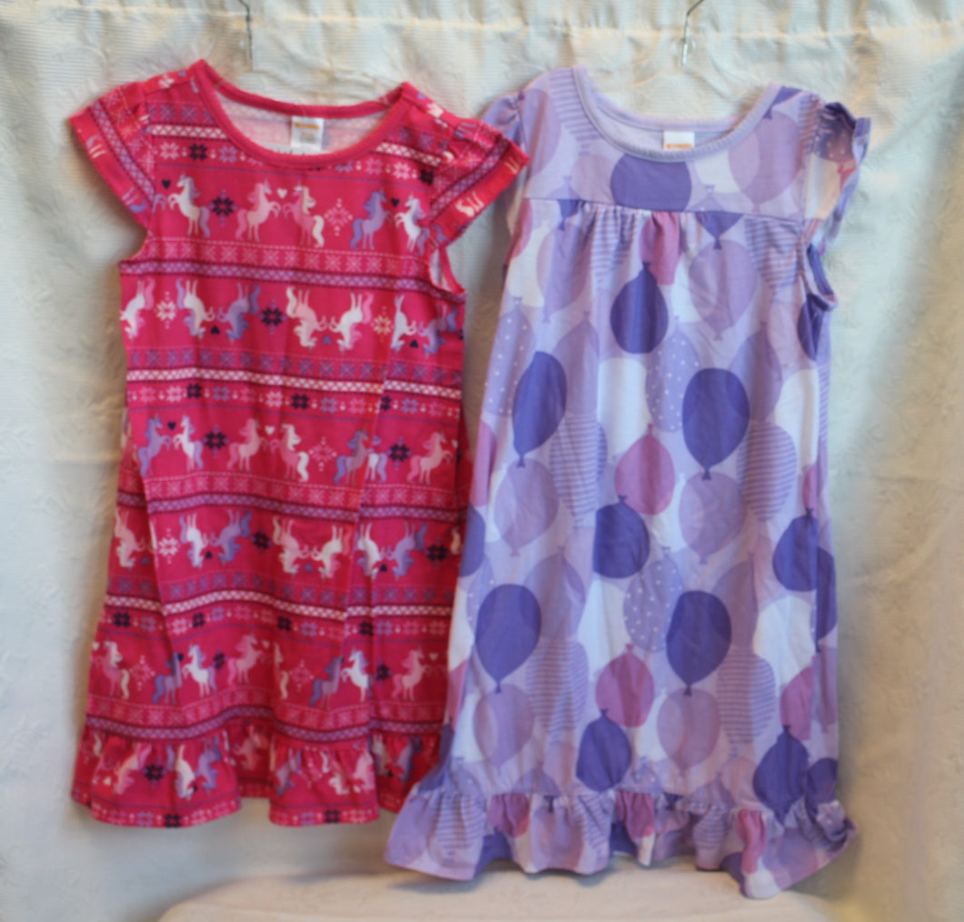 Kids - Girls Bundle - Gymboree Dress and Gymboree Nightgown       Size 5-6