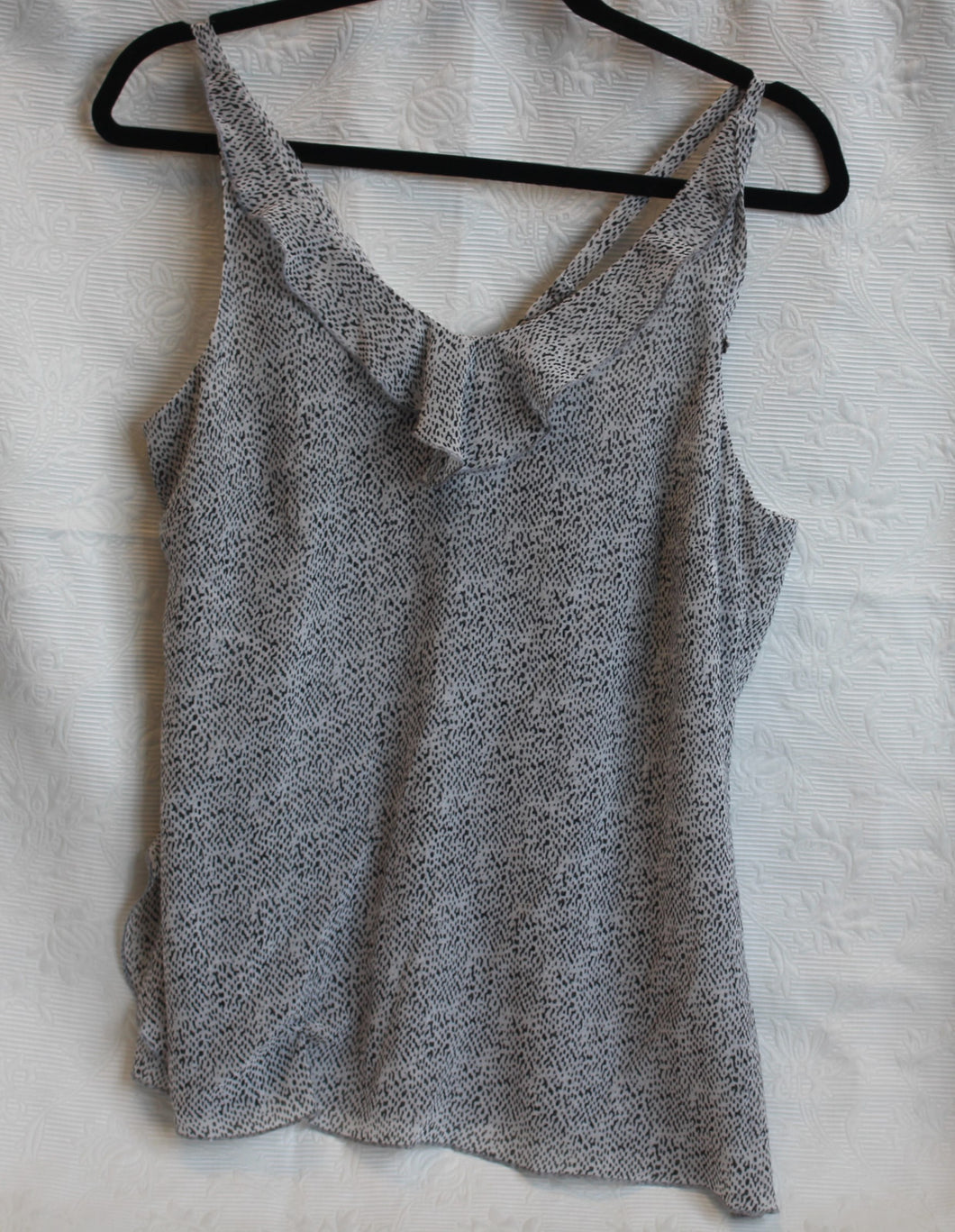 Women - Black and Grey Top - Size S
