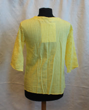 Load image into Gallery viewer, Women's Blouse - Long Sleeve - Yellow  Size 12   3/17A