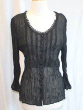 Load image into Gallery viewer, Women's Sheer Black Blouse                        12                                             3/17C