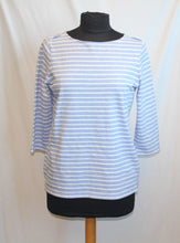 Load image into Gallery viewer, Women's - Blue White stripe blouse - Size M  3/31A