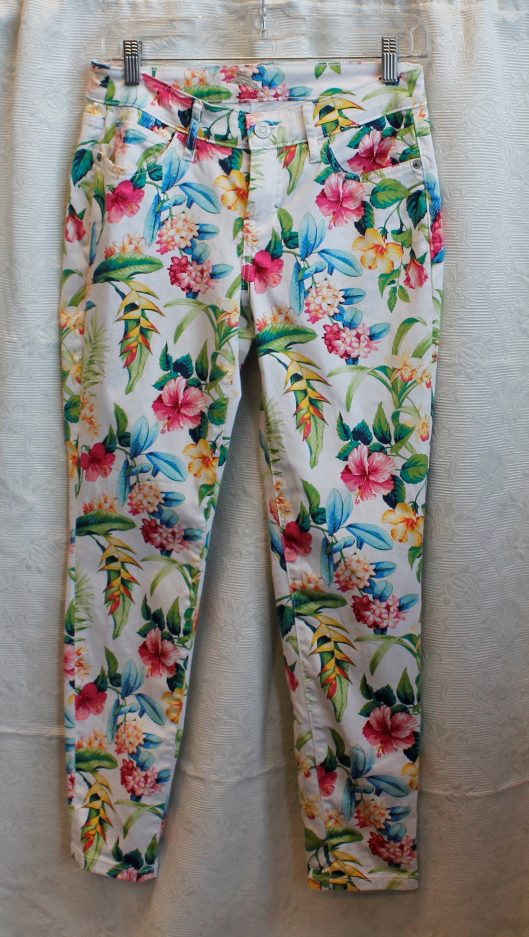 Women's Multicolored Flowered Pants             S                                        1/13C