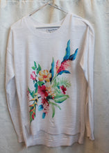 Load image into Gallery viewer, Women's White/Colorful Flowers  Top                  S (P)                          1/13C