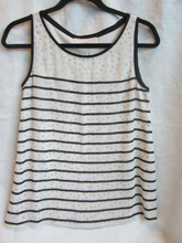 Load image into Gallery viewer, Women - Black and Beige LOFT Top - Size S                2/10A