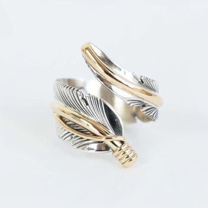 Feather Adjustable Ring by Harvey Mace