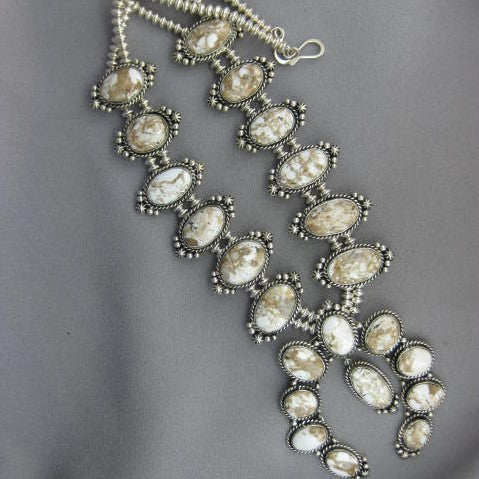 Squash Blossom Necklace by Robert Tsosie
