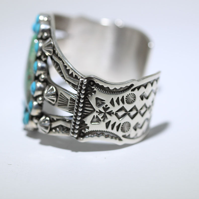 Stamp and Cluster Bracelet by Darrell Cadman