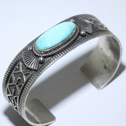 Royston turquoise Bracelet by Andy Cadman 5-1/2inch