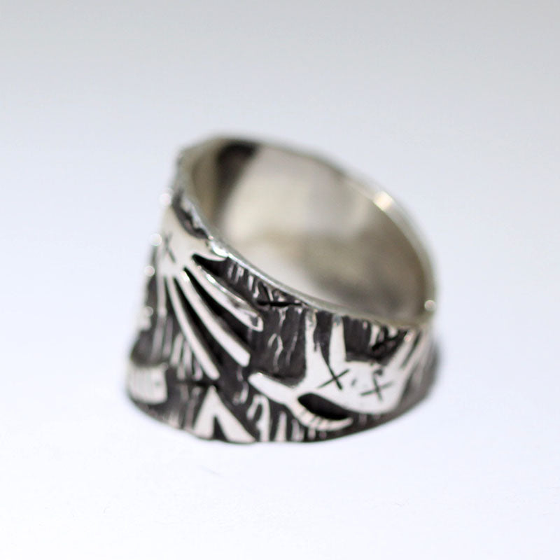 Petroglyph Ring by Kee Yazzie size 9.5