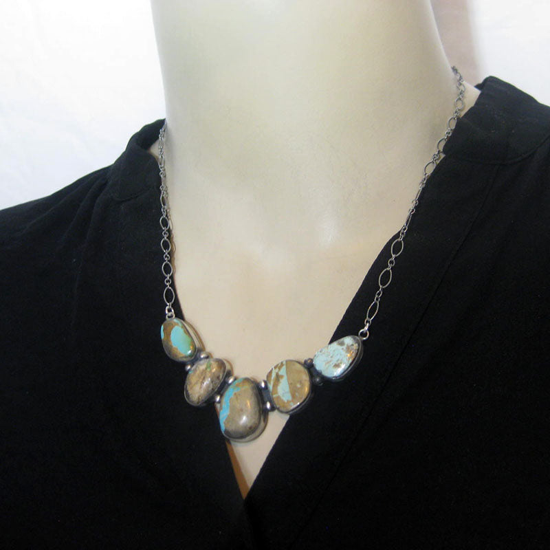 Royston Bolder Turquoise Necklace by Robin Tsosie