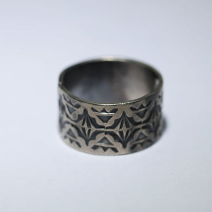 Stampwork Ring by Arnold Goodluck size 13.5