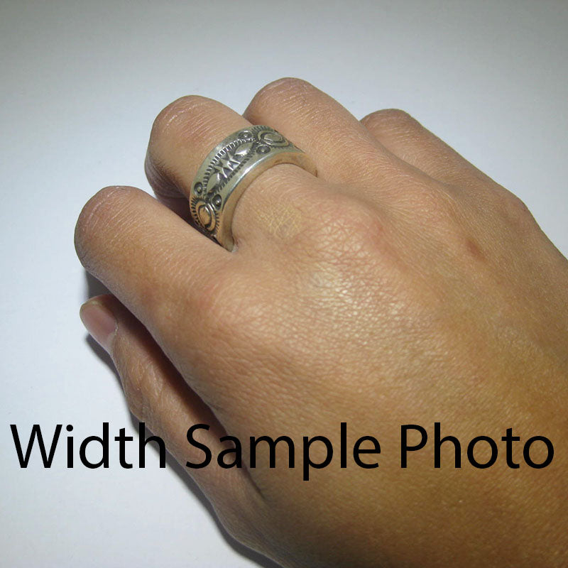 Stampwork Ring by Arnold Goodluck size 5.5