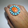 Cluster Ring by Fred Peters size 9.5