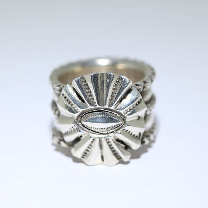 Coin Silver Ring by Ernie Lister size 10.5
