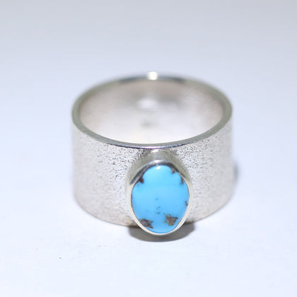 Morenci Tufacast Ring by Darryl Dean Begay size 10.5