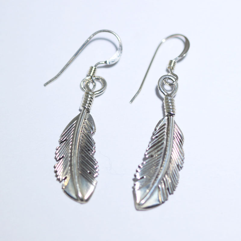 Feather Earring by Harvey Mace