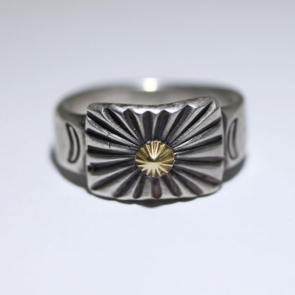 18K&Coin Silver Ring by Jesse Robbins 10.5