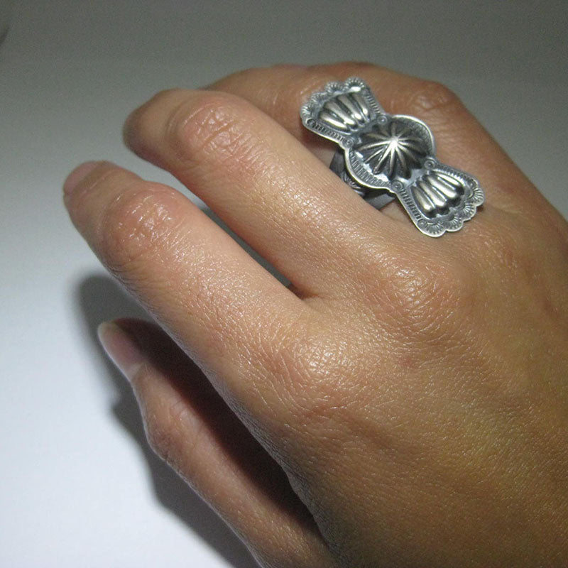Stamp Ring by Arnold Goodluck Size 8