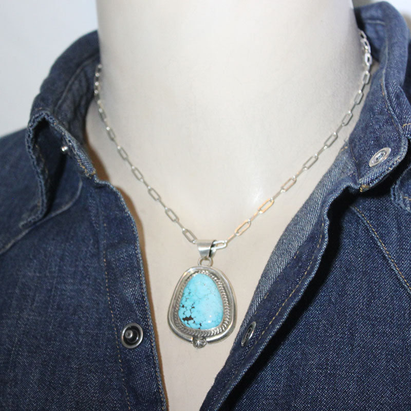Blue Moon Pendant by Robin Tsosie