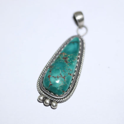 Fox Turquoise Pendant by Steve Arviso