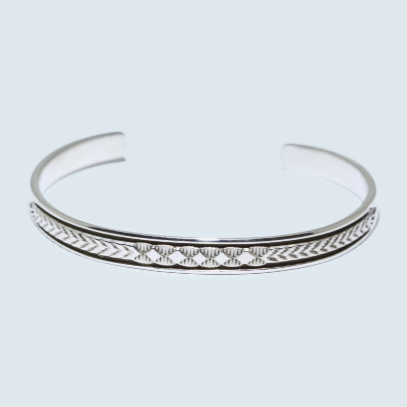 Inlay Chinese Ring  Size 7.5