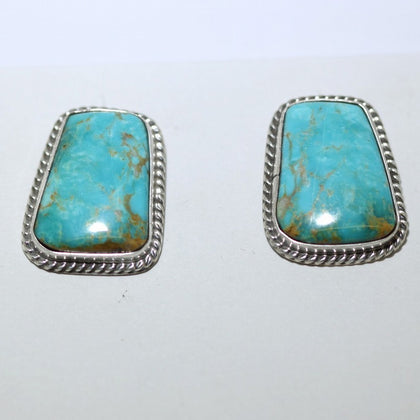 Chinese Turquoise Post Earring