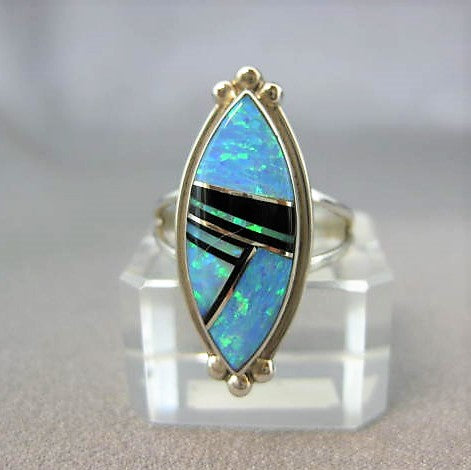Inlay ring by Stone Weaver