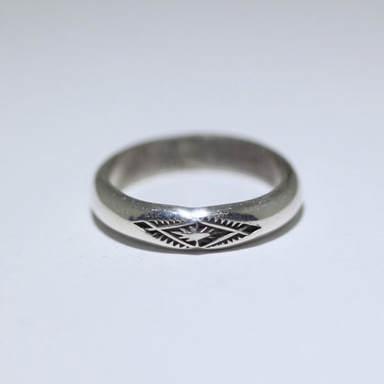 Stamp Silver Ring by Arnold Goodluck