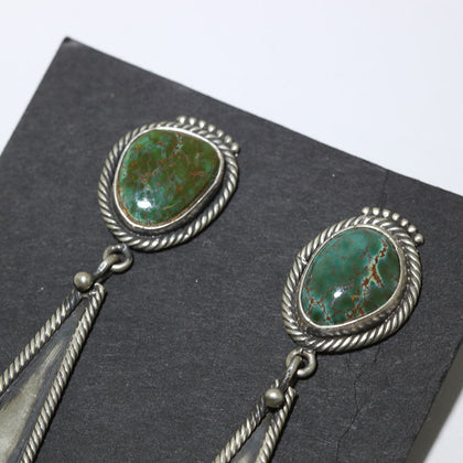 Kingman Stamp Earring by Arnold Goodluck
